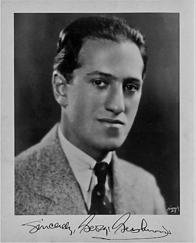 Signed photo of George Gershwin