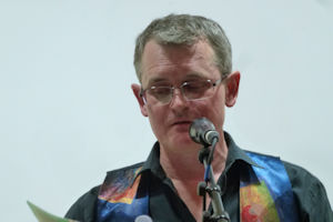 Graeme Lloyd performing some of his poetry