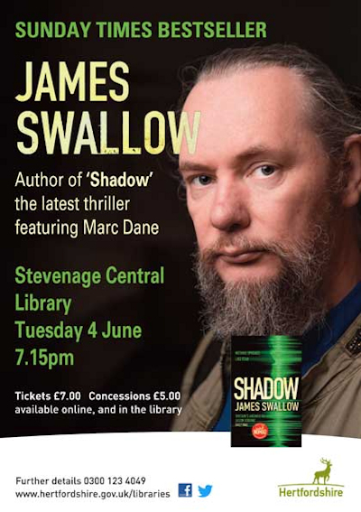 Writer James Swallow poster