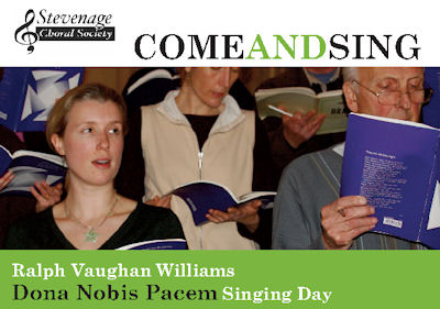 Poster for come and sing Dona Nobis Pacem workshop